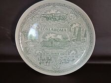 """Vintage Oklahoma """"The Sooner State"""" Collector Plate (Cat.#5B014)"""