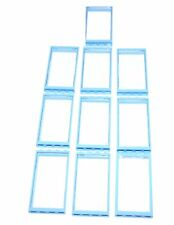 LEGO 10 NEW WINDOWS WITH NEW BRIGHT LIGHT BLUE FRAMES 1 x 4 x 6 CLEAR GLASS