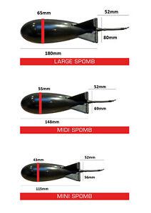 Fox The Spomb Futterrakete Mini Midi X Large weiß schwarz Bait Rocket Floats