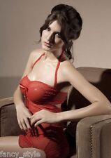 RED HIGH IN LOVE HEART MESH CHEMISE BABYDOLL NIGHTWEAR NIGHTIE VALENTINES 8-12