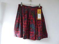 true vintage tartan print summer/festival/boho short  skirt  size S