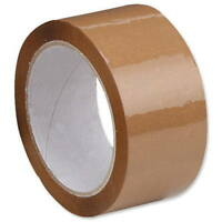 1 x ROLL OF BROWN PACKING PARCEL PACKAGING REMOVAL TAPE 48mm x 66M