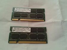 2x 2gb 2rx8 pc2 laptop ram, pulled from a working machine