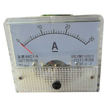85C1 DC 30A Analog Ampere Current AMP Panel Meter Ammeter Gauge 0-30A with Shunt