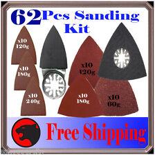 62 Pc Sanding Kit Oscillating Multi Tool Sand Pad For Milwaukee Fein Multimaster