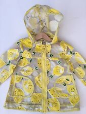 *NEXT* Girls Lemon 🍋 Rain coat Jacket (18-24 Months) Hood