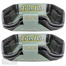 Harvest More Trim Bin Black Harvesting Trimming Trays & Brush Lot, 2 Pack