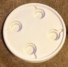 20 INCH OFF WHITE ROUND BOAT TABLE WITH CUPHOLDERS, BOAT, RV