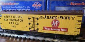 ✅ATLAS O 3-RAIL ATLANTIC PACIFIC 40' WOOD SIDE REEFER CAR SCALE REFRIGERATOR A&P