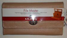 Mundi File Master Wallet,Coffee, MSRP $40