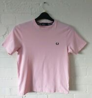 FRED PERRY boys pale pink t shirt genuine large youth (approximately 11-12 yr)