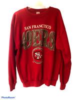 Vtg 1993 San Francisco 49ers Forty Niners red mens XXL XL sweatshirt womens 2X