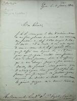 GENERAL AUPICK - LETTRE AUTOGRAPHE SIGNEE au GENERAL PAJOL BAUDELAIRE 1836