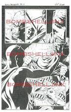 MARVEL BLACK PANTHER #9 PAGE 17 ORIGINAL ART BY WILL CONRAD