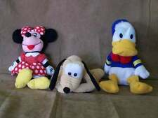 Disney Stores Minnie, Pluto and Donald Bean Bags GUC