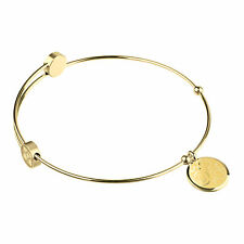 PRIMO Design donna bracciale bangle con Ciondolo Rose A401 acciaio inox
