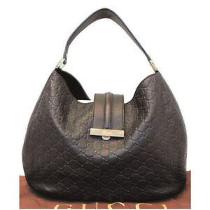 GUCCI Hobo Guccissima monogram BROWN leather bag