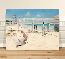 "Classic Australian Art ~ CANVAS PRINT 32x24"" Charles Conder Holiday at Mentone"