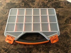 18 Compartment Bin Dividers Small Parts Tool Storage Organizer Box Portable Tote