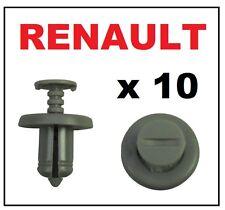 10 x Renault Clips (GRIS) Plateaux Trims Pare-chocs Moteur Boucliers Garnitures