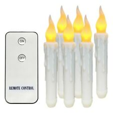 Remote Control 6PCS Battery Operated Flameless LED Taper Candles Lights