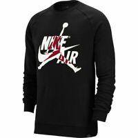 Nike Air Jordan Jumpman Logo Top Mens Pullover Black Size L Casual Sweatshirt