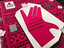 Atari Klax Arcade Machine Universal Kit Installation Manual Schematics Free Ship