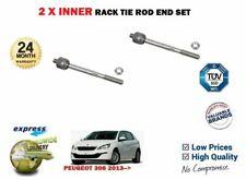 FOR PEUGEOT 308 + SW 2013-> 2X INNER LEFT RIGHT STEERING RACK TIE ROD END SET