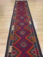 Oriental Handmade Turkish Wool Kilim Rug Room Floor hallway Runner