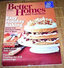 Better Homes and Gardens Magazine November 2011 Fall Thanksgiving Autumn Recipes