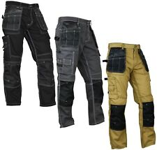 Mens Construction Cordura Knee Reinforcement WorkWear Trousers Utility Work Pant