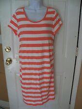 Liz Lange Maternity Shirt Dress Pink Stripe Size XL Women's NEW HTF