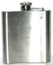 """New listing Stainless Steel Hip Flask 6 oz Capacity 4"""" Tall"""
