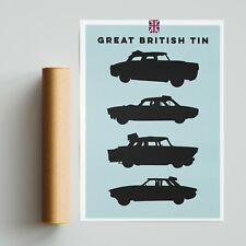 More details for british tin banger racing poster motorsport a4 a3 a2 wall art. granada jaguar