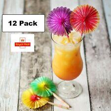 Sunflower Cocktail Sticks Set of 12 Starburst Paper Concertina Drink Decorations