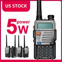 US STOCK Baofeng UV-5R PLUS UHF VHF Dual Band Two Way Ham Radio Walkie Talkie