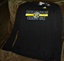 Columbus Crew long sleeve shirt MEN's large MLS Adidas Climalite authentic black