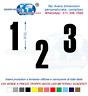 Numeri Adesivi auto/moto racing stickers numero adesivo Haettenschweiler