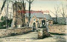PRINTED POSTCARD OF ST. MARY'S CHURCH, KILBURN, (NEAR COXWOLD), WEST YORKSHIRE