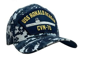 USS Ronald Reagan CVN-76 Classic Ship Hat Digital Blue Camo