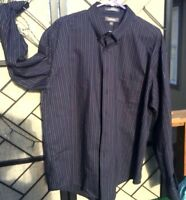Croft & Barrow Men's Casual Dress Shirt 18-36 Striped Cotton Button Wrinkle Free