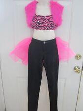 Black Hot Pink Tap Hip Hop Dance Costume Medium Child Mc 8 10