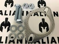 """High Performance Exhaust Gasket + Fitting Kit, 2 bolt, (63mm), 2 1/2"""", 2.5 inche"""