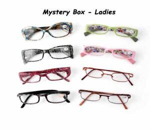 VIP 3 Pack Calabria Brand Random Assorted Box Reading Glasses, Ladies Styles