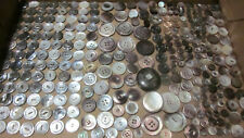 LOT OF 265+ VINTAGE DARK MOTHER OF PEARL SHELL BUTTONS CARVED MOP BUTTONS