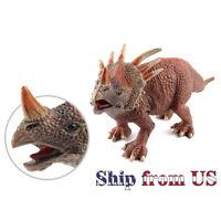 "13"" inch Jurassic Realistic Styracosaurus Dinosaur Figure Collectible Toy Gift"