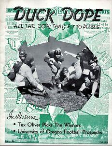 >orig./Mega-RARE!!! 1938 OREGON DUCKS FOOTBALL **Duck Dope** Lg. Media Guide