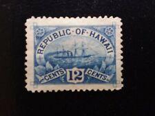 Hawaii Scott H 78 1894 12 cent Hawaii blue S.S. Arawa Unposted Hawaii stamp