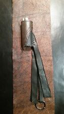 "Leather Lighter Case Rock n Roll Keychain or belt loop. 3"" large Bic. Handmade"