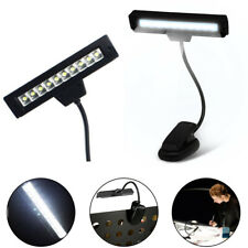 White 10 Led Flexible Reading Music Stand Light Usb Cable Clip-On Orchestral